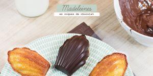 Madeleines-coques en chocolat